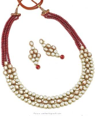 Imitation Kundan Necklace Set