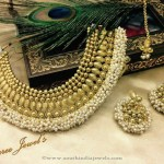 Imitation Pearl Choker with Jhumka
