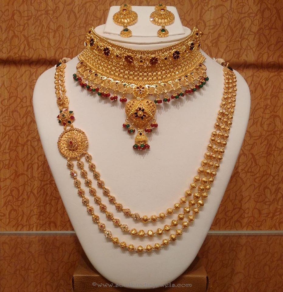 type bridal studded necklaces jewellery of demo zirconia sat nithyakalyani cubic necklace
