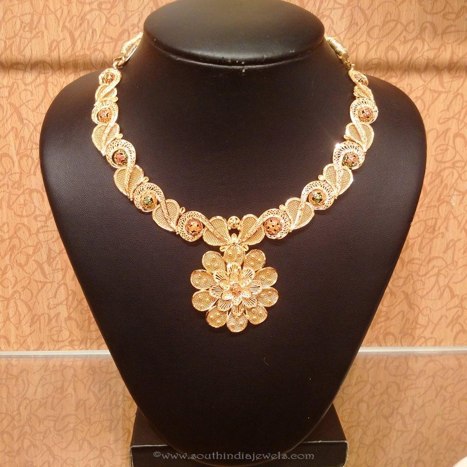 Light Weight Designer Floral Necklace