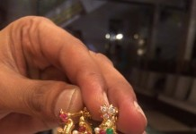 22K Gold Light Weight Jhumka from PSJ
