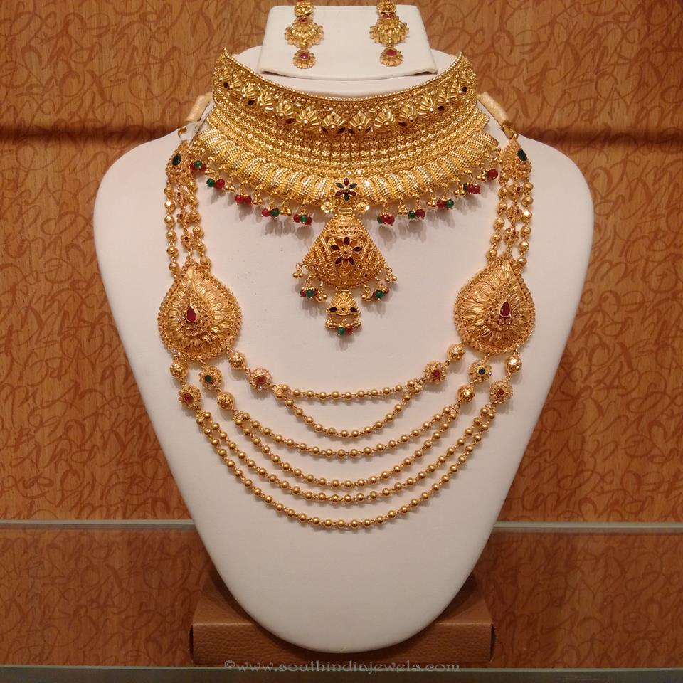 Gold Light Weight Hyderabad Bridal Jewellery