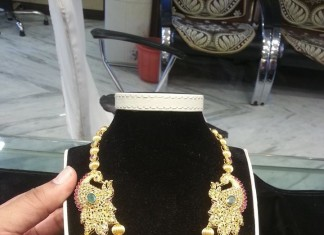 Multi Layer Gold Gundala Haram From Shubham Jewellers
