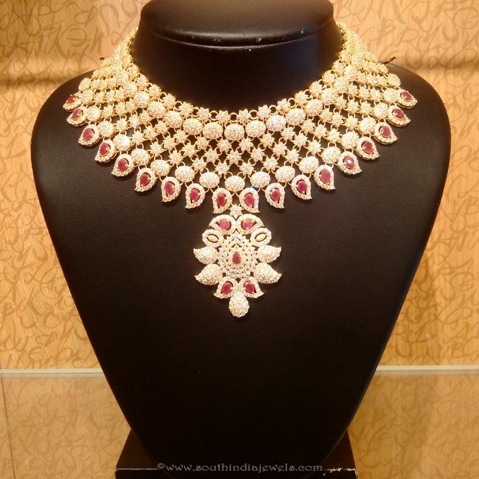 New Gold Bridal Necklace Design from NAJ ~ South India Jewels