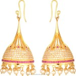 One Gram Gold Hoop Jhumka Earrings