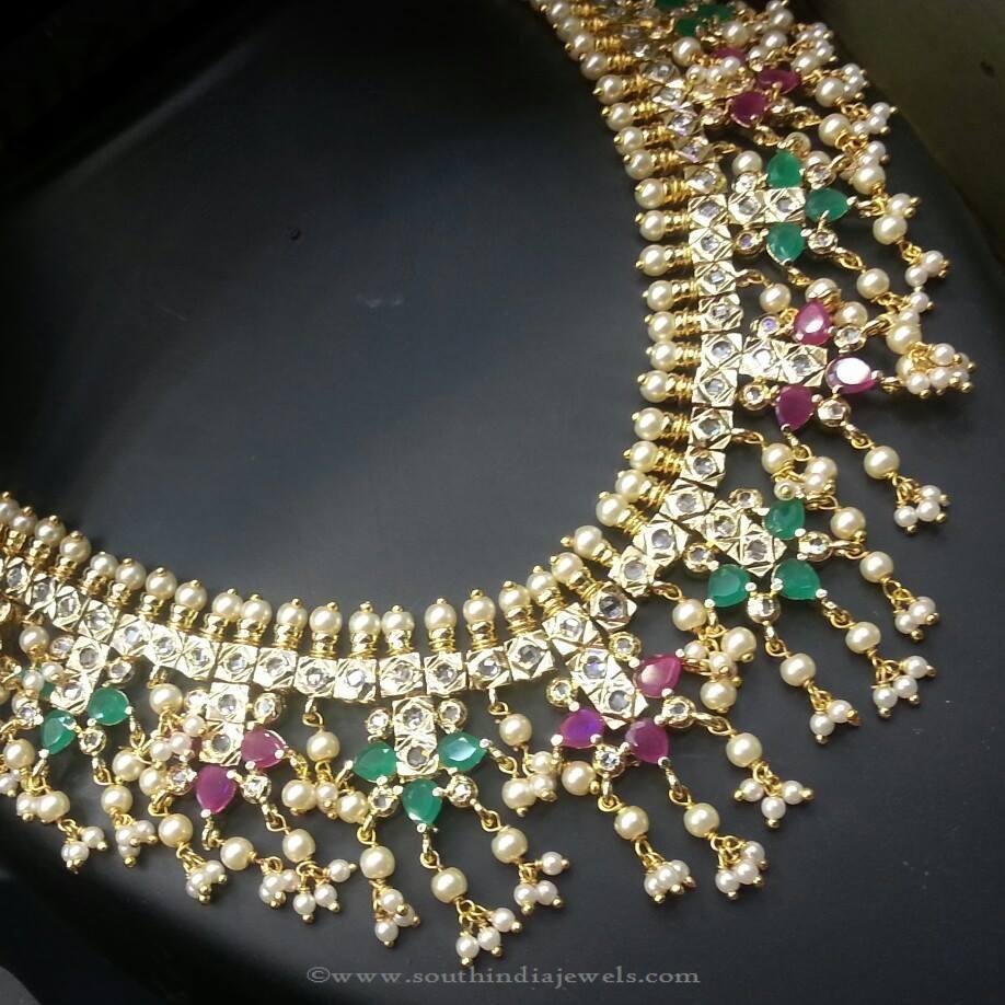 911c9066c98ec One Gram Gold Guttapuslau Necklace ~ South India Jewels