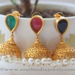 Matt Finish One Gram Gold Jhumkas