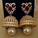 One Gram Gold Bridal Jhumka From Swarnakshi