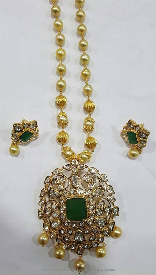Pachi Uncut Diamond Chain Necklace ~ South India Jewels