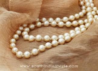 Gold Pearl Mala