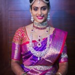 South Indian Bride with Diamond Jewellery