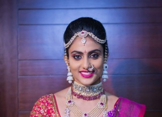 South Indian Bride ywith Diamond Jewellery