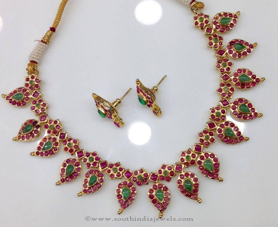 Gold Plated Ruby Mango Mala from Swarnakshi