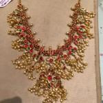 Gold Ruby Guttapusalu Necklace from PSJ