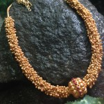 Antique Chunky Gold Beaded Necklace
