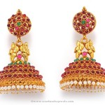 Antique Ruby Jhumka Earrings