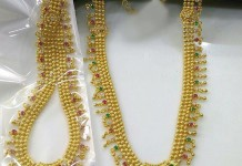 Artificial Gold Bridal Necklace Sets