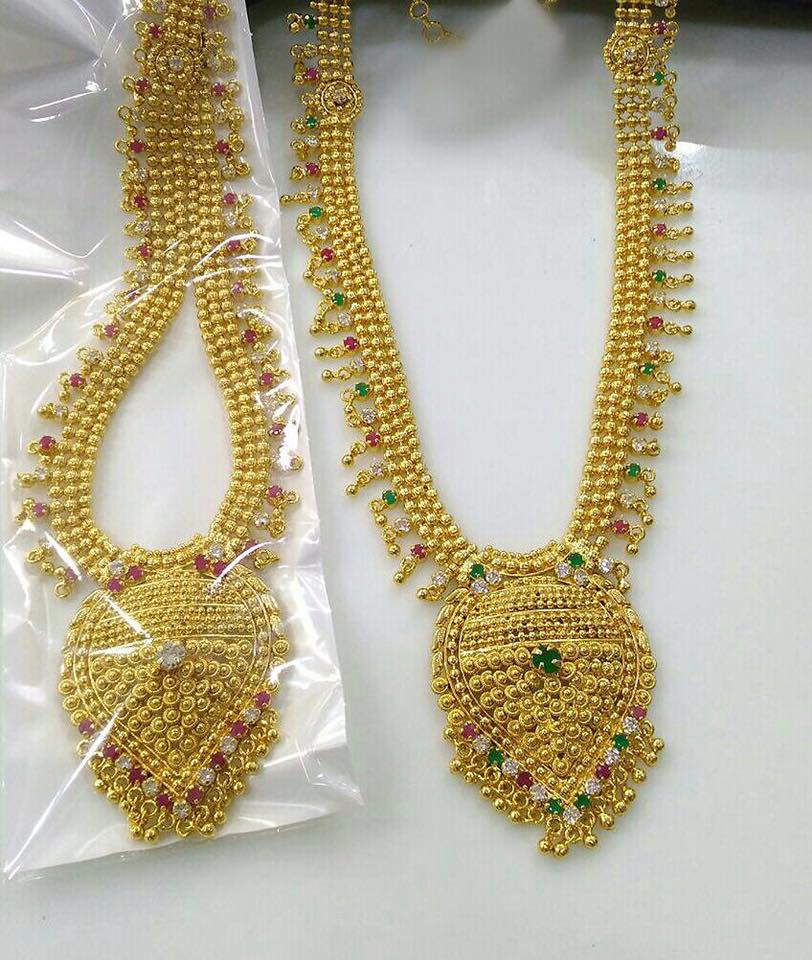 Artificial Gold Bridal Necklace Sets ~ South India Jewels