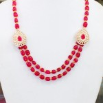 Beaded Side Mogappu Necklace Set