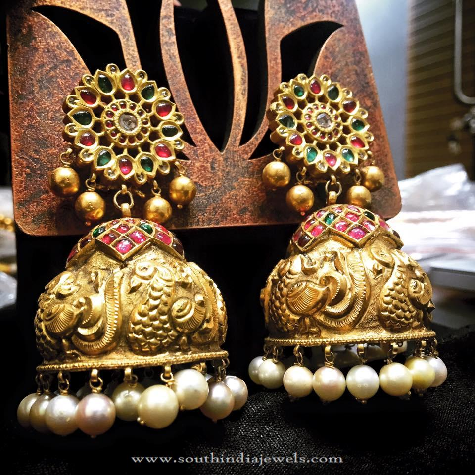 Big Gold Bridal Jhumka