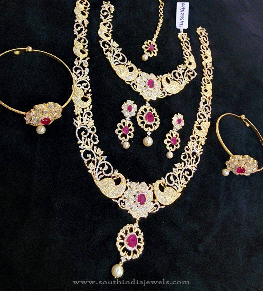Bridal Peacock Necklace Sets