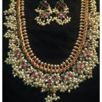 Classic Guttapusalu Necklace with Earrings