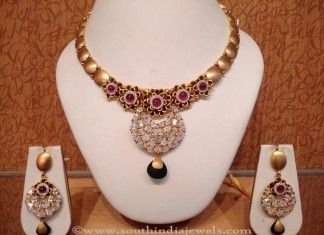 Designer Ruby Necklace Set with Earrings from NAJ