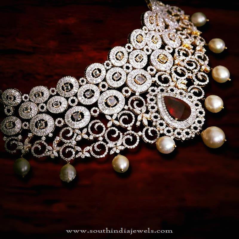 Diamond Choker Necklace from P.Sathyanarayan & Sons