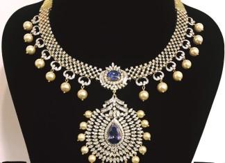 Diamond Attigai Necklace from Parnicaa