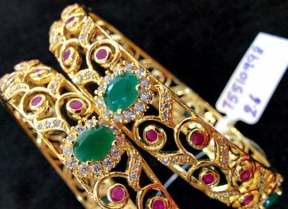 Fancy Gold Plated Stone Bangles