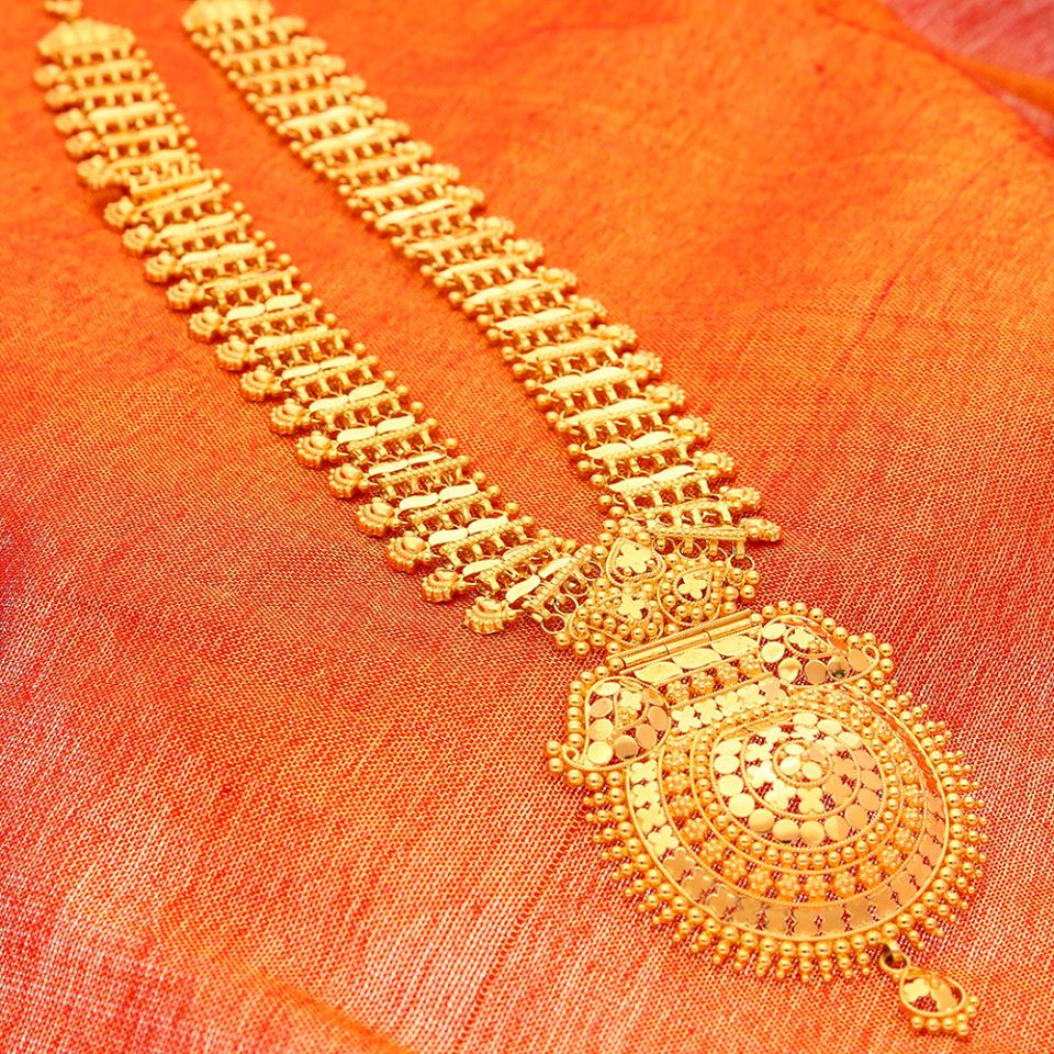Gold Chandan Haar from Manubhai Jewellers