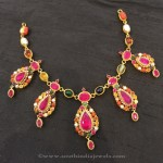Gold Navarathna Necklace Designs