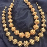Gold Antique Ball Necklace