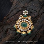 Gold Antique Emerald Pendant