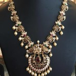 Gold Antique Nakshi Necklace From Bhavani Jewellers
