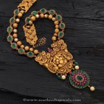 Gold Antique Emerald Temple Necklace