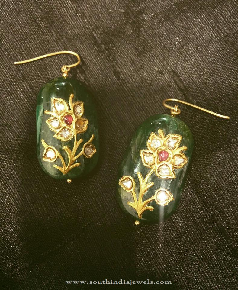 Gold Hook Earrings From Parnicaa