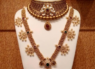 Gold Nakshi Work Jewellery Collection from NAJ