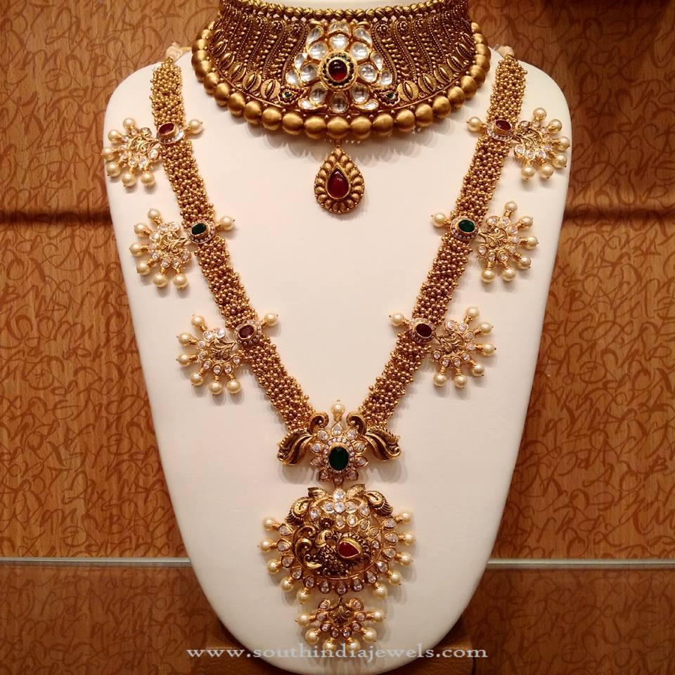 Gold Nakshi Work Jewellery Collection from NAJ ~ South India Jewels