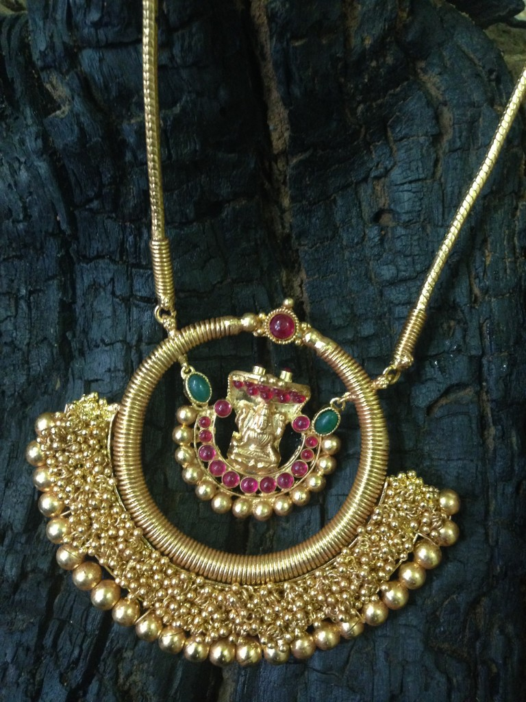 Gold Plated Antique Pendant Chain