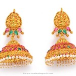 Gold Plated Antique Temple Jhumka