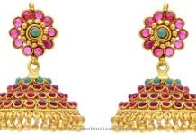 Gold Plated Hyderabad Jhumka