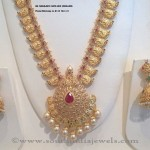 Gold White Stone Necklace Design