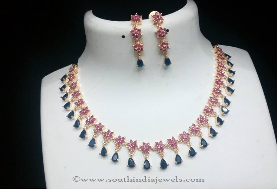 american diamond necklace designs south india jewels