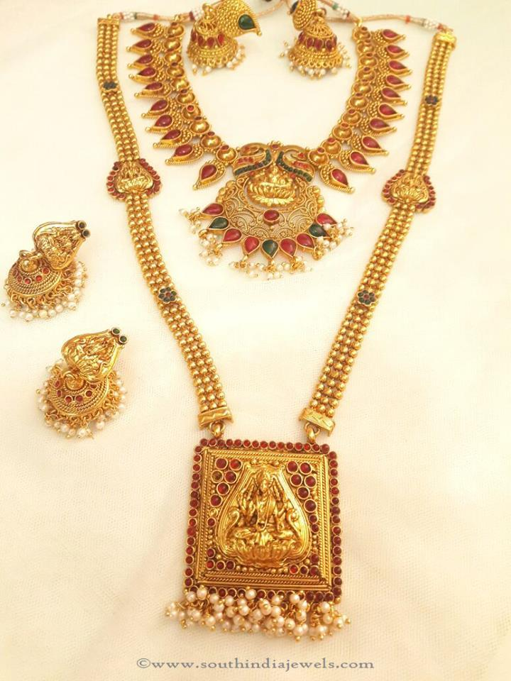 necklace guranteed studded full products griiham plated set combos gram grande gold haras bridal one lakshmi bridalmarriage marriage