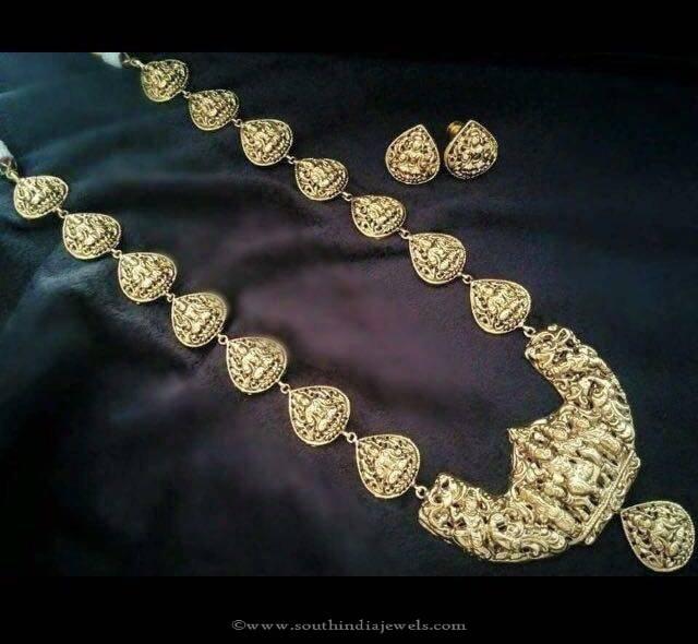 Imitation Nakshi Work Long Necklace