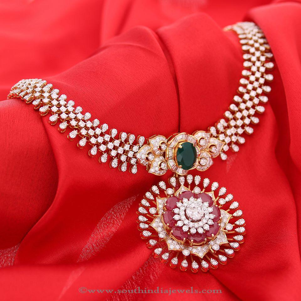 Latest Model Diamond Necklace from Manubhai
