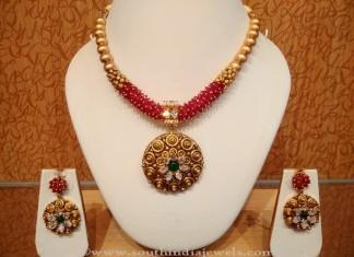 Light Weight Designer Gold Necklace Set from NAJ