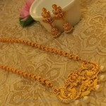 Long Temple Necklace with Jhumka from Emporia