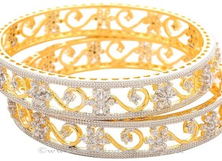 One Gram Gold AD Bangle